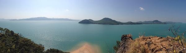 Vue panoramique depuis Koh Nok
